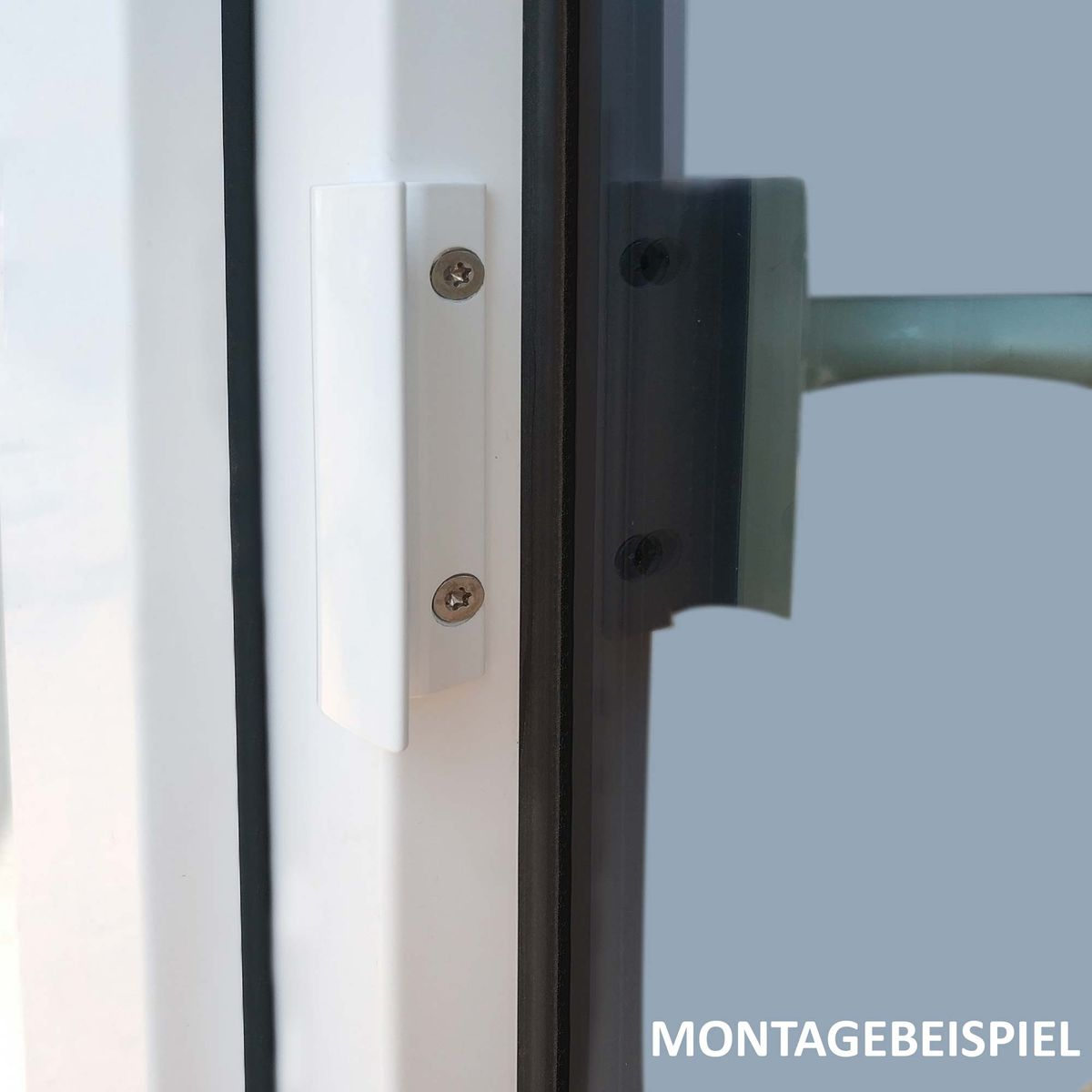35 mm mit Schrauben Fenstergriff T/ürgriff Aluminium RAL 9016 wei/ß